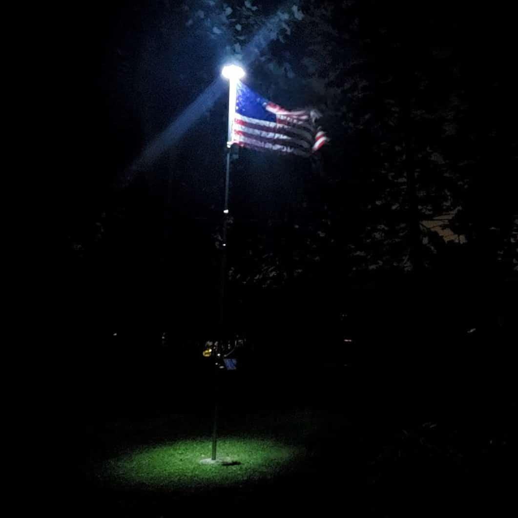 TOTOBAY 30-LED Solar Power Flag Pole Light