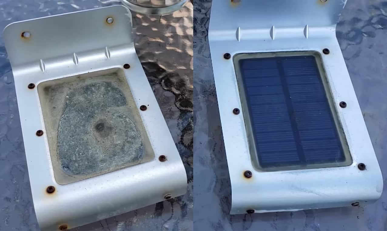 cleaning solar lights with vinegar