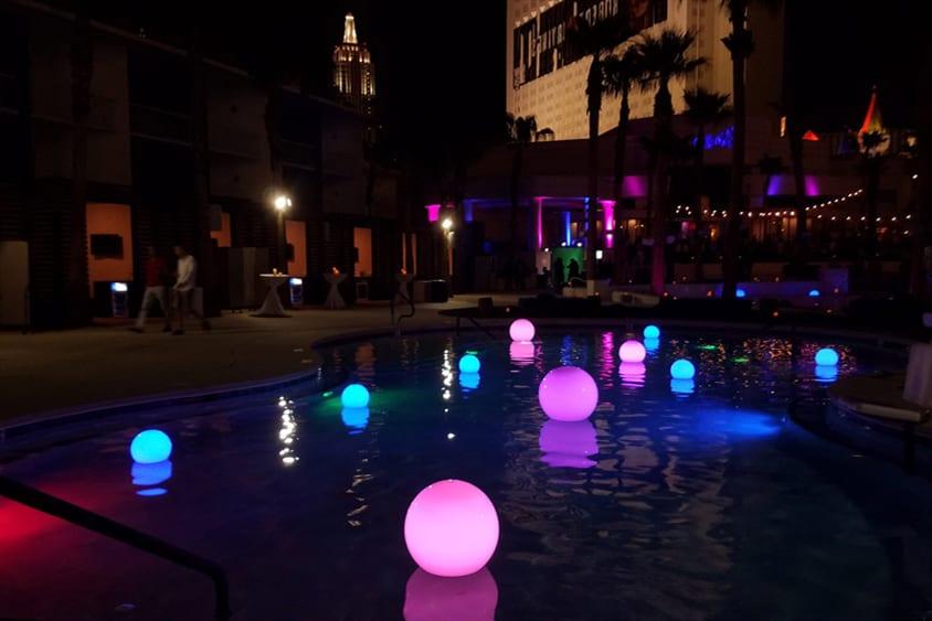 solar lighting for swimming pools