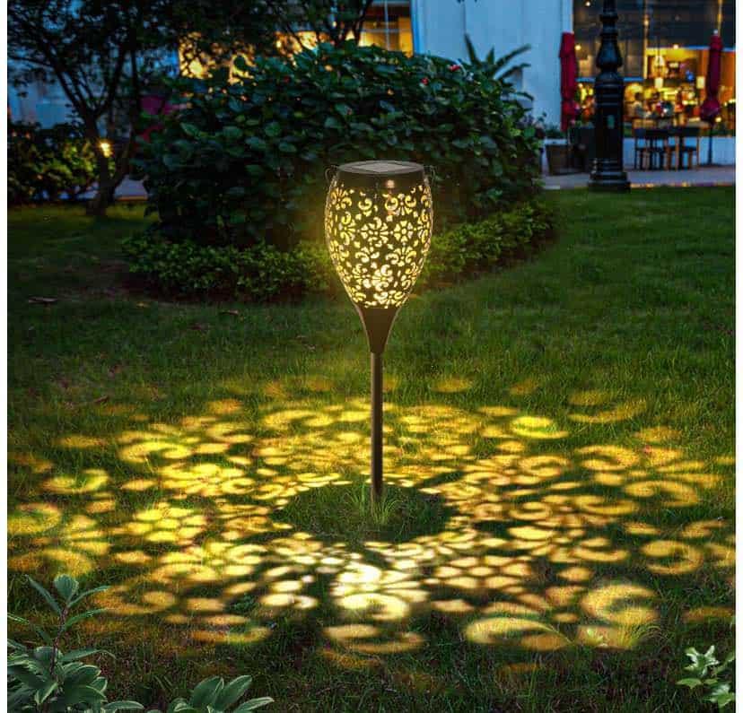 solar lights for flower beds