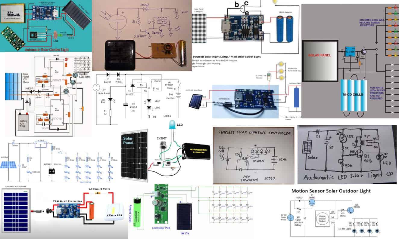DIY Solar Light Circuit Idea