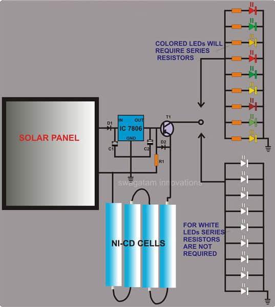 DIY Solar Light Circuit for String Lights