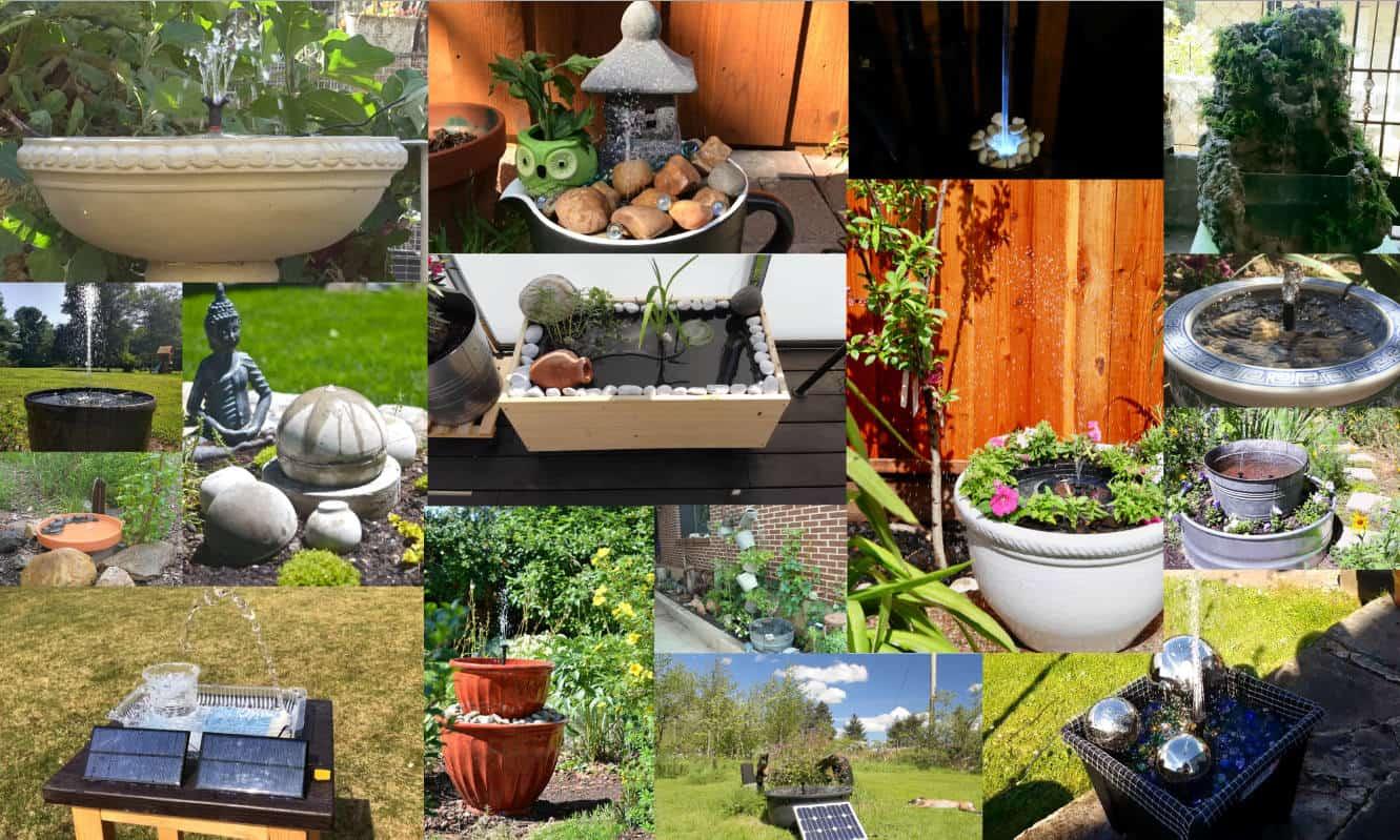 DIY Solar Water Fountain Ideas