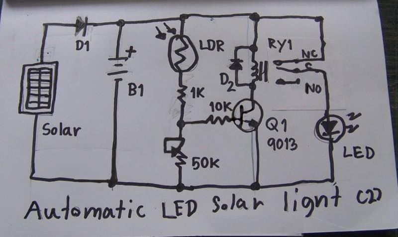 diy solar light circuit