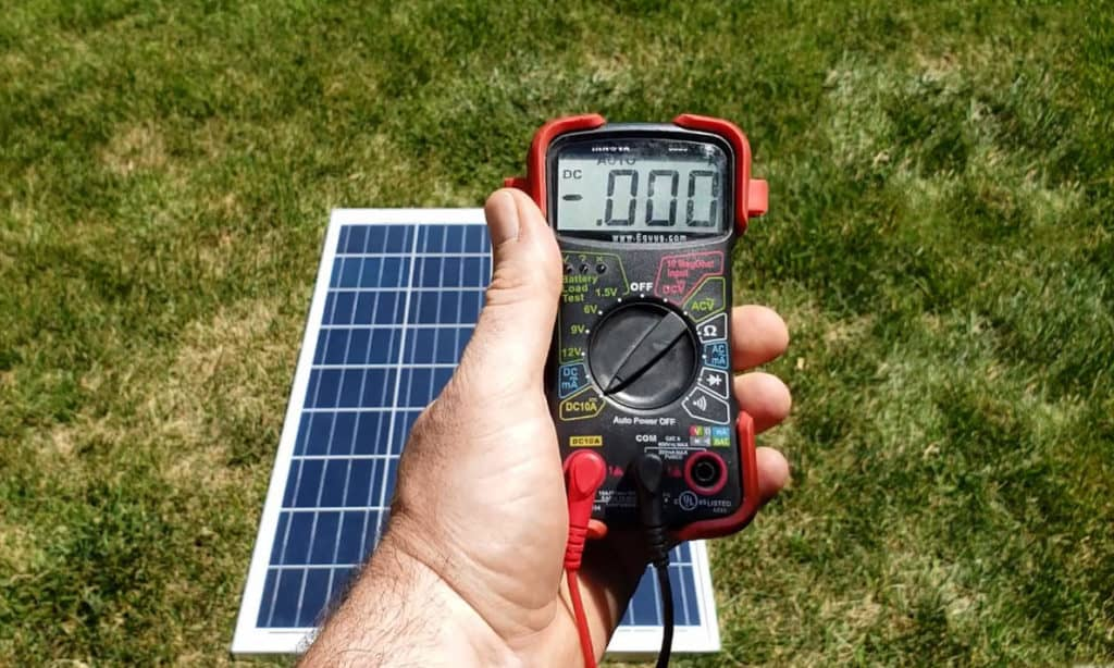 how to test solar panels
