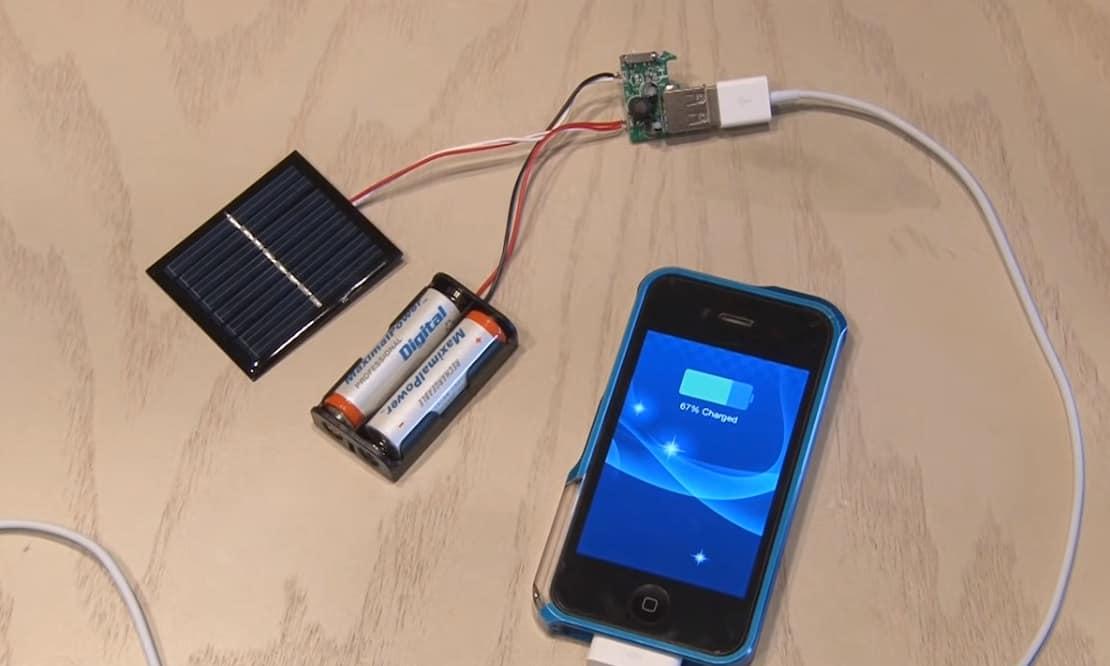 solar cellphone charger diy