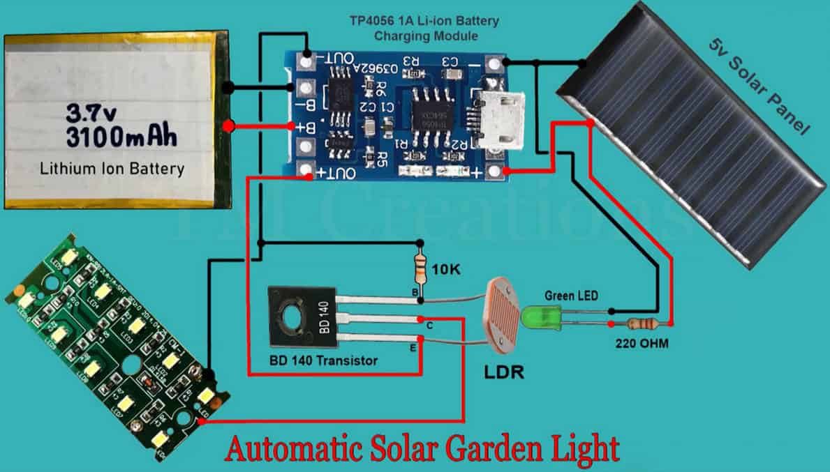 solar garden light circuit board