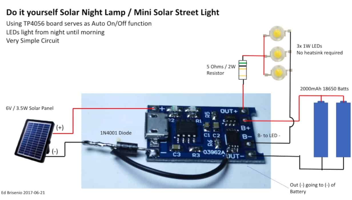 solar garden light circuit