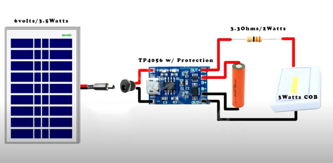 solar led light circuit diagrams