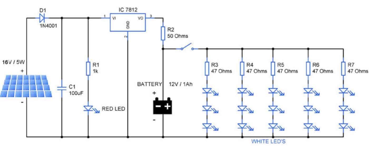 solar light circuit board
