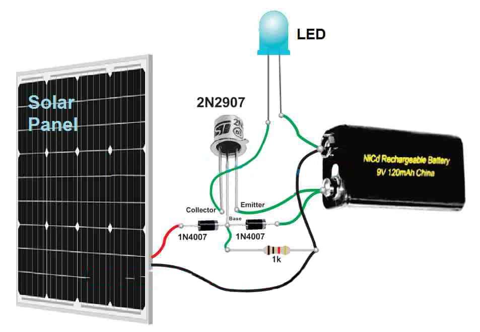 solar light circuit