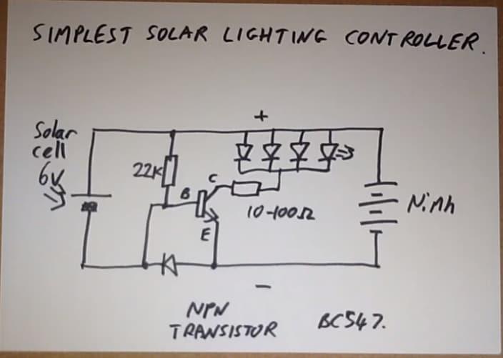 solar light switch circuit