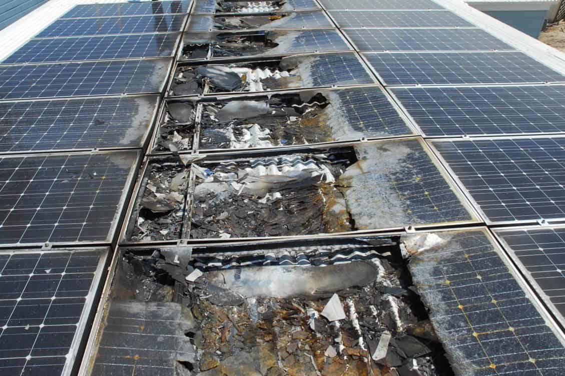 solar panel heat