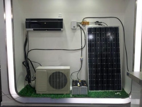 solar panels to run air conditioner