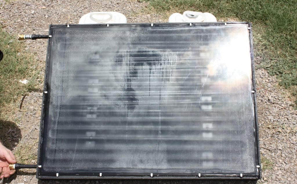 diy solar hot water heater