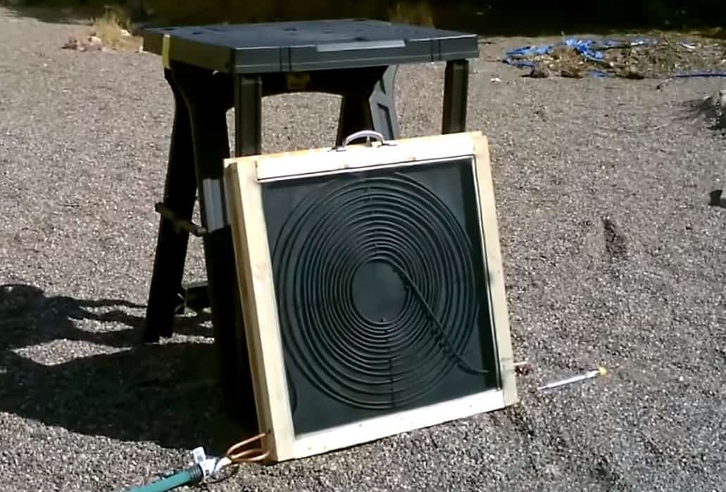 homemade solar hot water heater