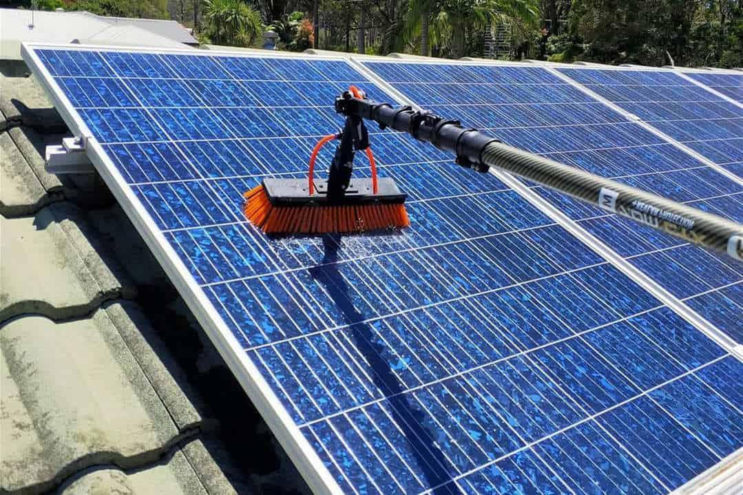 maintaining solar panels