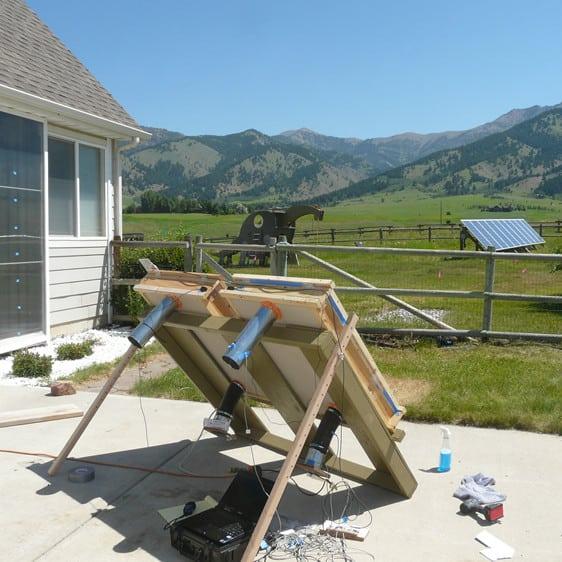 solar air heater diy
