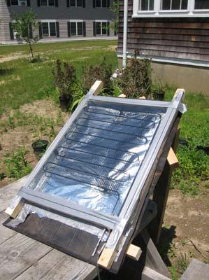 solar hot water heater diy