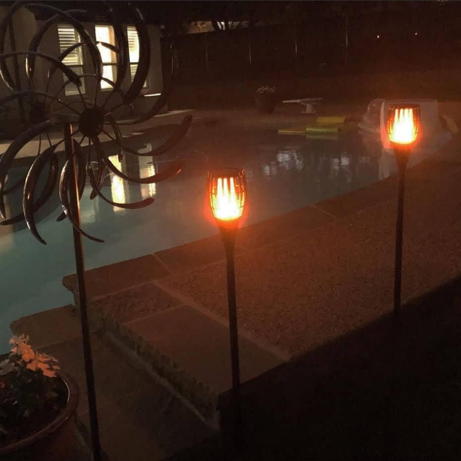 solar powered tiki torches
