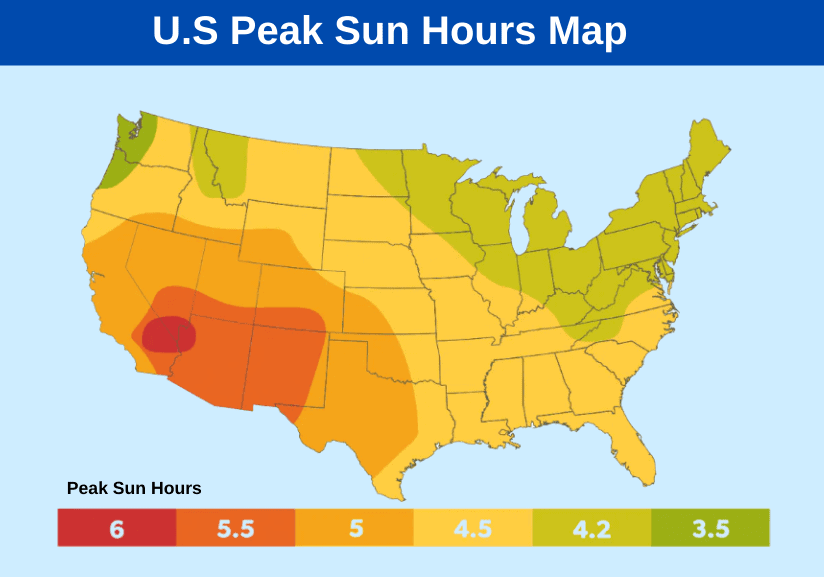 us Peak Sun Hours Map