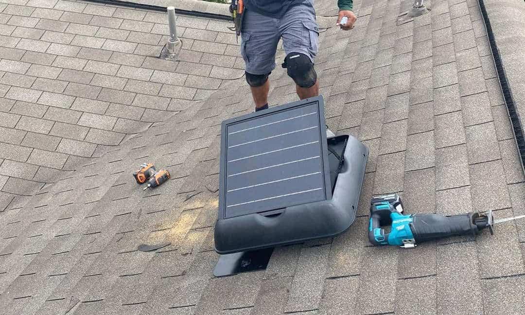 how to install solar attic fan