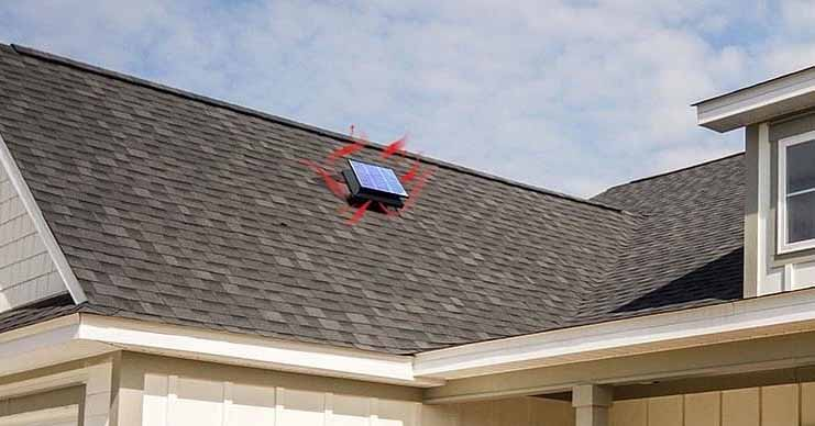 how to size a solar attic fan