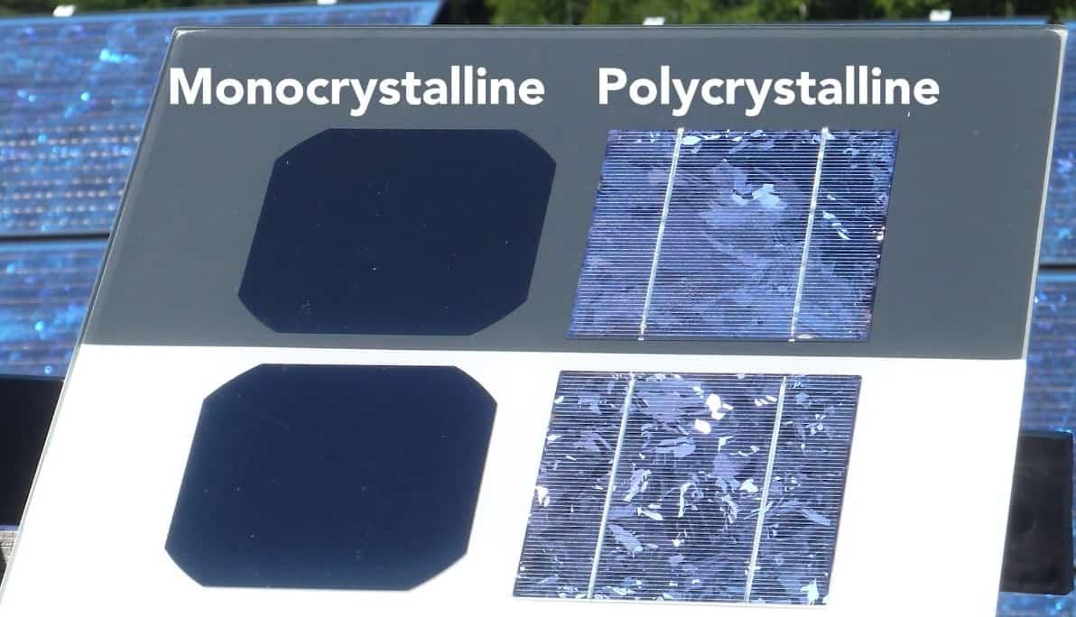 monocrystalline or polycrystalline