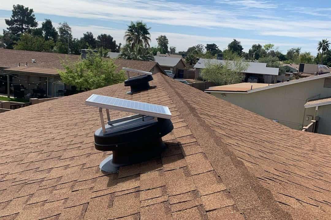 solar attic fan installation