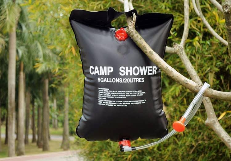 solar heated shower bag