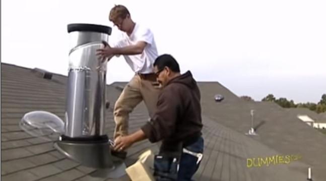 solar lighting tube