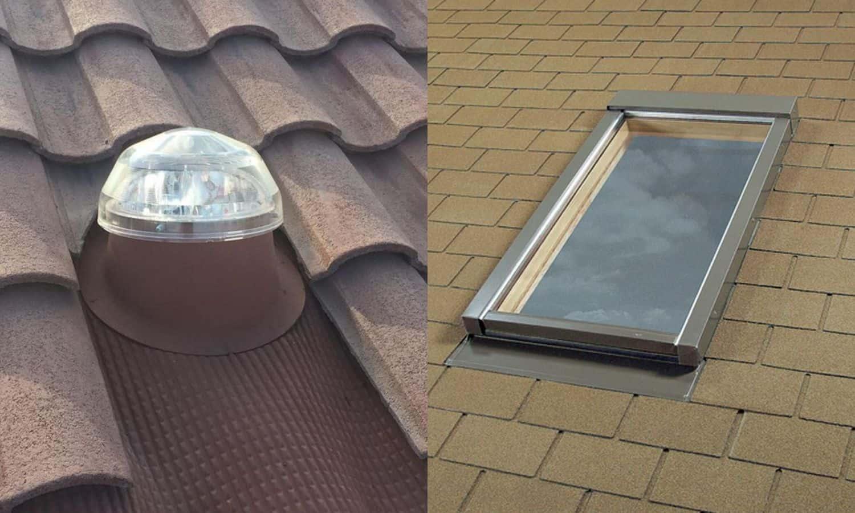 solar tube vs skylights